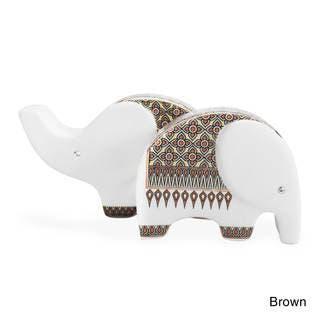 Elephants Handmade Ceramic Craft Salt and Pepper Set (Thailand)|https://ak1.ostkcdn.com/images/products/10117185/P17256293.jpg?impolicy=medium