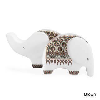 Elephants Handmade Ceramic Craft Salt and Pepper Set (Thailand)