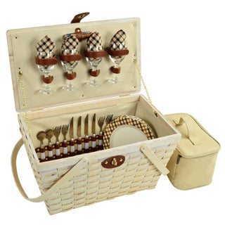 Picnic at Ascot Settler Picnic Basket for Four (Option: Multi)