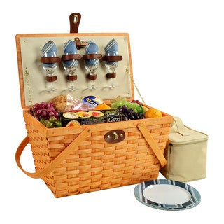 Picnic at Ascot Settler Picnic Basket for Four
