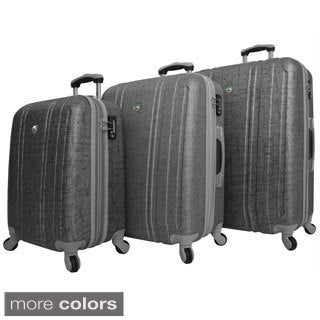 Mia Toro ITALY Macchiolina Abrasa Lightweight Hardside 3-piece Spinner Luggage Set