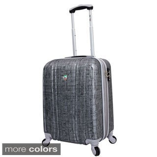 Mia Toro ITALY Macchiolina Abrasa 20-inch Lightweight Hardside Expandable Carry On Spinner Suitcase