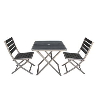 Fresca Polylumber Folding Outdoor 3-piece Dining Set