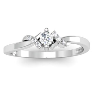 Elora 10k White Gold 1/5ct TDW Diamond Promise Ring (I-J, I2-I3)