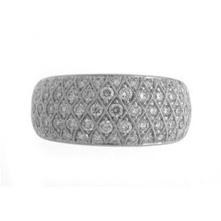 Azaro 18k White Gold 1 1/10ct TDW Diamond Band Ring