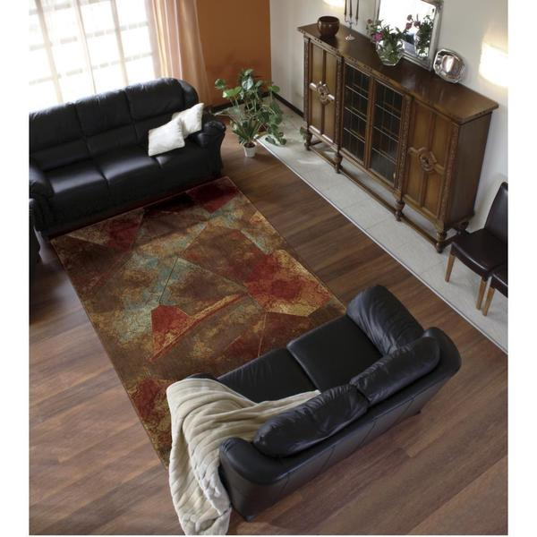 "Rug Squared Fenwick Multi-colored Rug (3'6 x 5'6) - 3'6"" x 5'6"""
