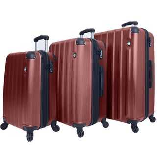 Mia Toro ITALY Lega Spazzolato Lightweight Hardside 3-piece Spinner Luggage Set