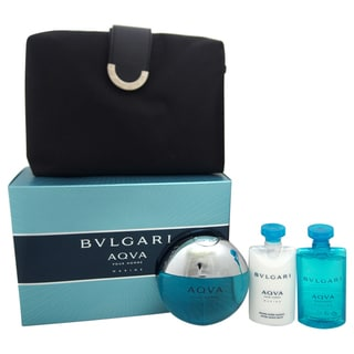 Bvlgari Aqva Marine Men's 4-piece Gift Set