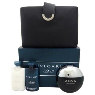 Bvlgari Aqva Men's 4-piece Gift Set