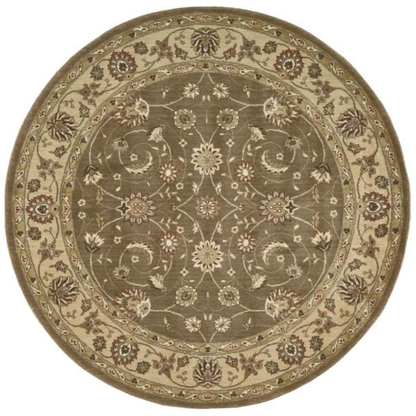 Rug Squared Fenwick Taupe Rug (5'6 Round) - 5'6