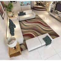 Rug Squared Fenwick Multi-colored Rug - Multi-color - 9'6 x 13'