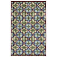 Indoor/Outdoor Luka Multi Tile Rug (2' x 4')