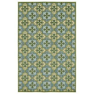 Indoor/Outdoor Luka Green Tile Rug - 8'8 x 12'0