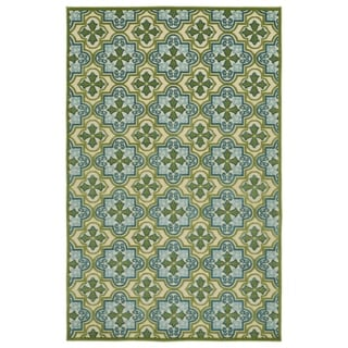 Indoor/Outdoor Luka Green Tile Rug (3'10 x 5'8)