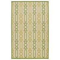 "Indoor/Outdoor Luka Gold Mod Rug - 3'10"" x 5'7"""