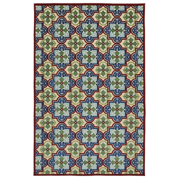 "Indoor/Outdoor Luka Multi Tile Rug - 8'8"" x 12'"