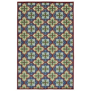 "Indoor/Outdoor Luka Multi Tile Rug (8'8"" x 12')"