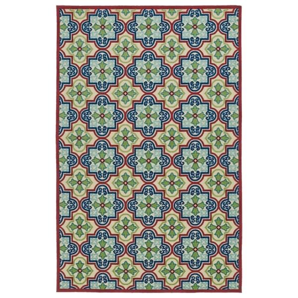 Indoor/Outdoor Luka Multi Tile Rug - 7'10 x 10'8
