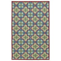 Indoor/Outdoor Luka Multi Tile Rug - 7'10 x 10'8