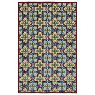 """Indoor/Outdoor Luka Multi Tile Rug - 3'10"""" x 5'8"""""""