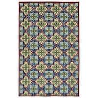 """Indoor/Outdoor Luka Multi Tile Rug - 3'10"""" x 5'7"""""""