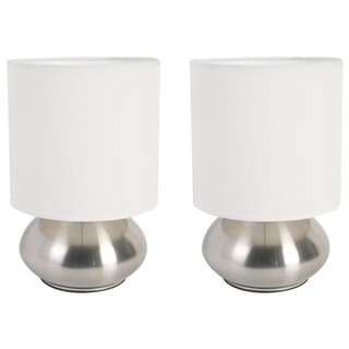 Link to Porch & Den Roseman Mini Lamp with Touch Base and Fabric Shade (Set of 2) Similar Items in Table Lamps