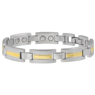 Sabona 18k Gold and Silver Executive Dress Duet Extra Large Magnetic Bracelet