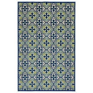 Indoor/Outdoor Luka Blue Tile Rug (8'8 x 12'0)
