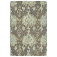 Manhattan Hand-Tufted Mint Ikat Rug - 8' x 11'