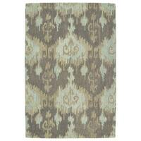 Manhattan Hand-Tufted Mint Ikat Rug - 7'6 x 9'