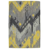 Manhattan Hand-Tufted Grey Ikat Rug - 2' x 3'