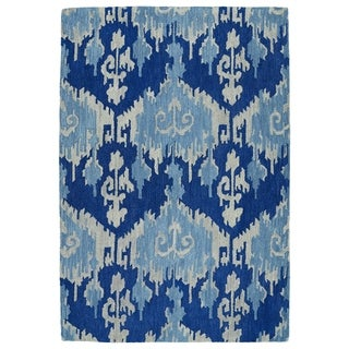 Manhattan Hand-Tufted Blue Ikat Rug (7'6 x 9'0)
