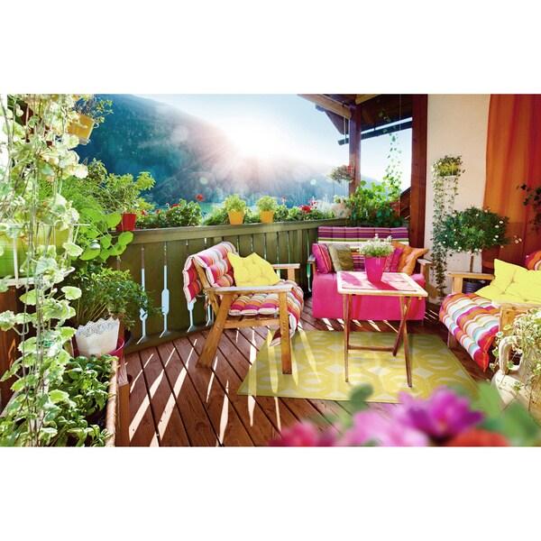 """Indoor/Outdoor Luka Gold Geo Rug - 8'8"""" x 12'"""