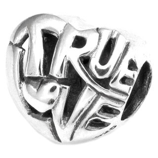 Queenberry Sterling Silver Filigree True Love Heart European Bead Charm