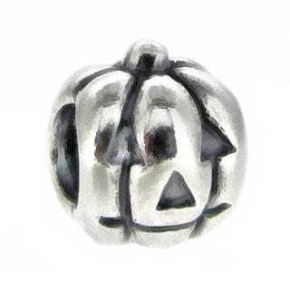 Queenberry Sterling Silver Jack-O-Lantern Halloween Pumpkin European Bead Charm