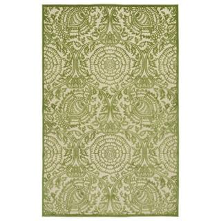 Indoor/Outdoor Luka Green Zen Rug (8'8 x 12'0)