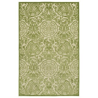 Indoor/Outdoor Luka Green Zen Rug (8'8 x 12'0)