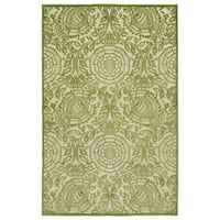 "Indoor/Outdoor Luka Green Zen Rug - 8'8"" x 12'"