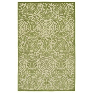 Indoor/Outdoor Luka Green Zen Rug (5'0 x 7'6)