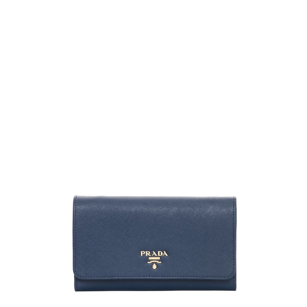 b086feb927f0 coupon code for prada cornflower blue saffiano leather flap wallet with  strap 58d73 283e4