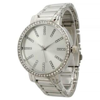 Olivia Pratt Women's Rhinestone Boyfriend Bracelet Watch