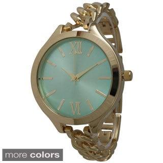 Olivia Pratt Women's Skinny Chain Link Bracelet Watch