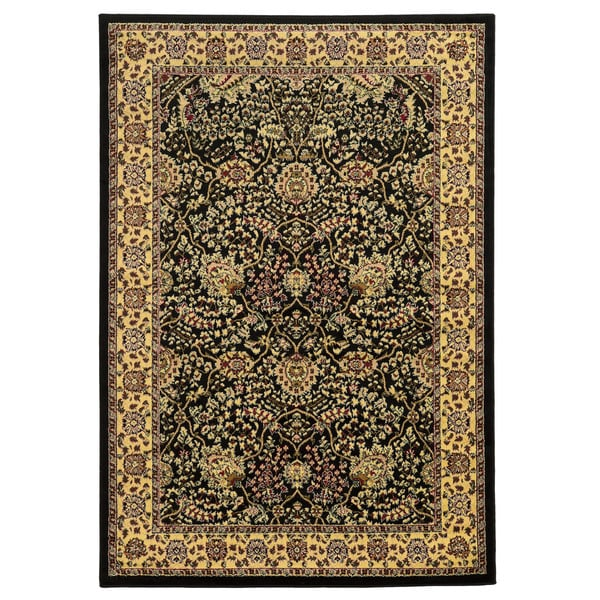 Linon Elegance Zeigler Black Rug (5' x 7'3)
