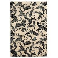 Linon Elegance Forest Grey Rug (5' x 7'3)