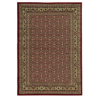 Linon Elegance Ferehan Red Rug (8' x 10')
