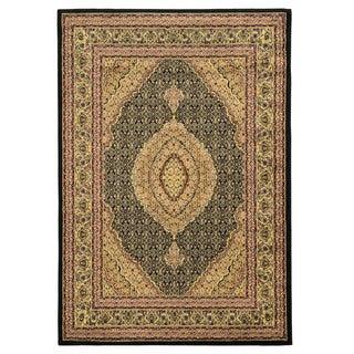 Linon Elegance Mahi Black Rug (8' x 10')