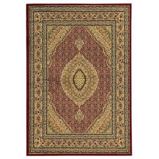 Linon Elegance Mahi Red Rug (8' x 10')