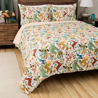 Greenland Home Fashions Safari Park Cotton 3-piece Quilt Set