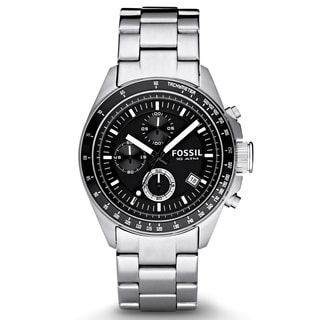FOSSIL Decker Chronograph Stainless Steel Black Dial Men's Watch