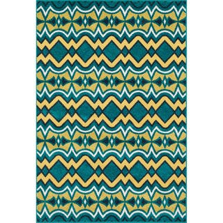 Indoor/ Outdoor Palm Peacock/ Citron Rug (9'2 x 12'1)|https://ak1.ostkcdn.com/images/products/10117843/P17256842.jpg?impolicy=medium